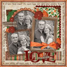 What an eye-pleasing #scrapbook #page #layout.  It is Forever Love by Scrapjazz.com (Love the colors and journaling.)  Let's scrap it in Oklahoma @ scrapnparadise.webs.com