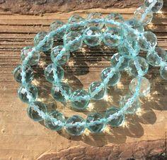 Для украшений ручной работы. Ярмарка Мастеров - ручная работа. Купить Аква кварц 8,10 мм шар крупная огранка  бусины камни для украшений. Handmade.