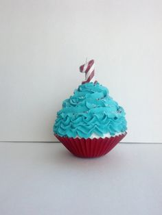 Cat in the Hat Jumbo Fake Cupcake for Dr Suess First Birthday Photo Props, Party Decorations, Party Favors and Displays on Etsy, $16.50