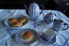 Lomonosov porcelain in Cobalt Net