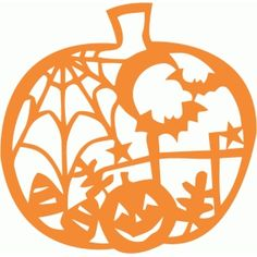Silhouette Design Store - View Design #49800: halloween pumpkin scene cutout