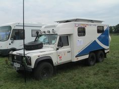 Landrover Defender 130 stretched to 170 6x4 Adventure Camper with pop up roof