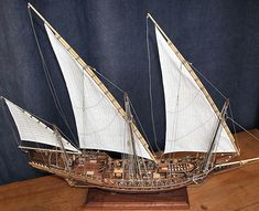 Model of a xebec (from Never Seduce).