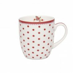 Room Seven Mug white with red dots 300 ml