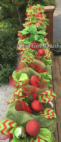 Hey, I found this really awesome Etsy listing at https://www.etsy.com/listing/248733025/6-christmas-deco-mesh-garland