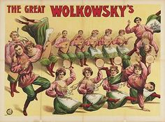 The Great Wolkowsky's circus poster