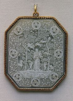 otherworldly Cut-Paper Devotional Pendant, 17th c - a gift from a devoted admirer