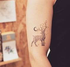 30 Tree-Themed Deer Tattoo Design For Love of Nature and Animals tattoo old school tattoo arm tattoo tattoo tattoos tattoo antebrazo arm sleeve tattoo Mini Tattoos, Trendy Tattoos, Body Art Tattoos, New Tattoos, Small Tattoos, Tattoos For Guys, Sleeve Tattoos, Tatoos, Easy Tattoos