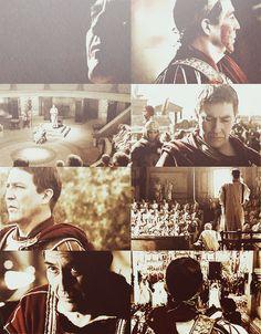 """It's only hubris if I fail. Rome Hbo, Rome Tv Series, Gaius Julius Caesar, Ciaran Hinds, Roman Era, British American, Sang, 1st Century, Ancient Rome"