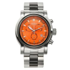 NWT Croton Men's Swiss Quartz Stainless Steel & Ceramic Chronograph Sports Watch #Croton #Sportswatch #FathersDay