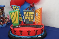 Spiderman Cake Ideas for Little Super Heroes - Novelty Birthday Cakes Spiderman Cake Topper, Spiderman Theme, Superhero Birthday Cake, Novelty Birthday Cakes, Batman Cakes, Man Birthday, Birthday Ideas, Birthday Parties, Happy Birthday