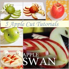 DIY Fruit Art Series – 5 Apple Cut Tutorials