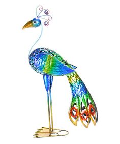 Look what I found on #zulily! Peacock Statue #zulilyfinds