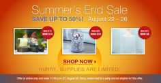 "#PartyLite Summer's End Sale! 8/22/12-8/26/12    PARTYLITE ® CANDLES CATALOG WEBSITE free $15 giftcard w/$50 order* (see ""NEWS  EVENTS"" for details)"