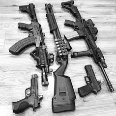 "@762tactical ""Things that make me happy"" LWRC M6A3 Remington 870 Tactical M92 PAP M&P CORE w/RMR Sig P320RX"""