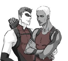 Roy and Kaldur by JJ-Boom.deviantart.com on @deviantART