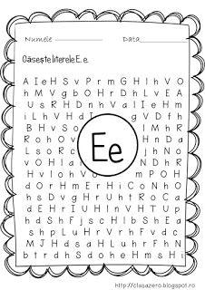 Clasa pregatitoare: Fise litere School Lessons, Kindergarten Worksheets, Phonics, Tudor, Activities For Kids, Lettering, Teaching, David, 8 Martie