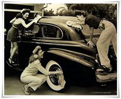 "Vintage Photo of a ""Car Wash""."