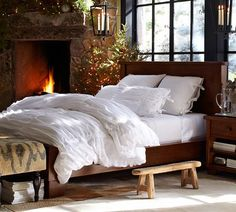 Hadley Ruched Duvet Cover | Pottery Barn - SO cozy!