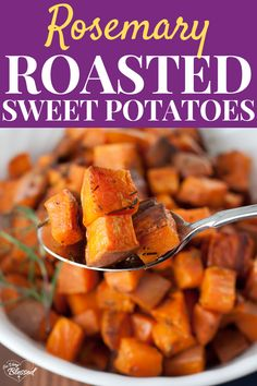 Low Carb Recipes To The Prism Weight Reduction Program These Simple Roasted Rosemary Sweet Potatoes Are An Easy, Healthy, And Flavorful Side That Goes Great With Any Main Dish. Healthy Vegetable Recipes, Healthy Vegetables, Healthy Recipes For Weight Loss, Healthy Eating Recipes, Healthy Chicken Recipes, Vegetable Dishes, Healthy Food, Veggies, Dairy Free Mashed Potatoes