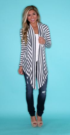 Seeing Stripes Grey/White $24