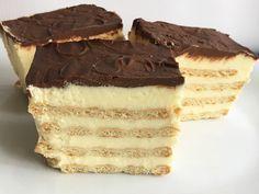 Ciasto z krakersami bez pieczenia Polish Desserts, Cold Desserts, Cookie Desserts, Sweet Desserts, No Bake Desserts, Sweet Recipes, Cookie Recipes, Dessert Recipes, Polish Food