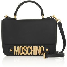 Moschino Textured-leather shoulder bag found on Polyvore