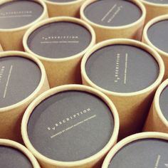 Packaging incense and branding on pinterest for Kraft paper craft tubes