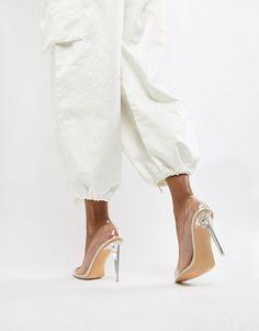 eea3e3c3d9bd Public Desire Drank clear court shoes