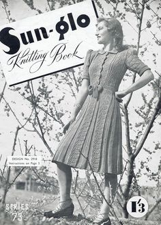 1940s PDF knitting Patterns  PDF Copy of door GrannyspdfPatterns, $5.00