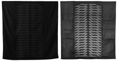 Meg Callahan - Silt Blanket - uses traditional Bojagi techniques:  sewing together a combination of transparent and opaque fabrics and enclosing the seams