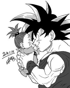 Abuelo Goku y Bebe Pan
