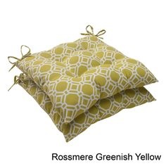 Pillow Perfect 'Rossmere' Outdoor Tufted Seat Cushions