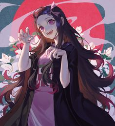 Nezuko Kamado, Demon Slayer: Kimetsu no Yaiba, Demon Slayer: Kimetsu no Yaiba bookmarks / 弥豆子 - pixiv Otaku Anime, Manga Anime, Me Anime, I Love Anime, Anime Demon, Manga Art, Anime Angel, Demon Slayer, Slayer Anime