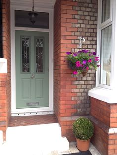 Victorian Style Chartwell Green Solidor Semi Detached House Back Doors Front