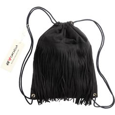 Backpack with Fringe $24.99 (£18) ❤ liked on Polyvore featuring bags and backpacks