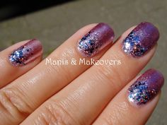 Manis & Makeovers: Tutorial Tuesday: Inverse Glitter Gradient!  http://manisandmakeovers.blogspot.com/2013/09/tutorial-tuesday-inverse-glitter.html