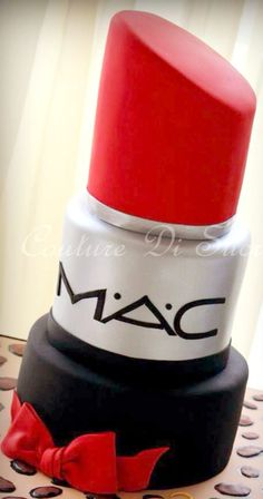 MAC Lipstick Cake - this is incredible!