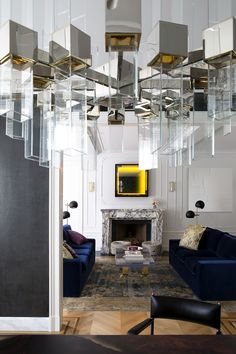 Washington Square Park, Minimalist, Ceiling Lights, Mirror, Interior, Modern, Room, Knowledge, Design