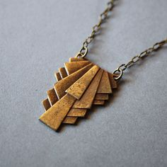 Ruffles necklace van kalliART op Etsy