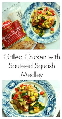 Cheesy Baked Spaghetti Squash Boats with Grilled Chicken | Food ...