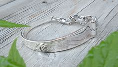 """""""Classic Rose"""" Sterling Silver Fork by Reed and Barton...circa: 1954... fashioned into a Bracelet w/Vintage Sara Coventry Clasp...commissioned piece"""