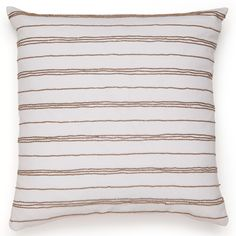 Jill Rosenwald Jills Key Beaded Stripes Decorative Pillow @Layla Grayce