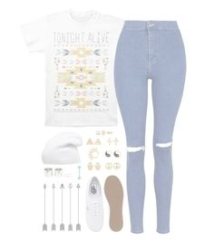 """//Listening//"" by alex-bows ❤ liked on Polyvore featuring Topshop, Vans, Mudd and Phase 3"
