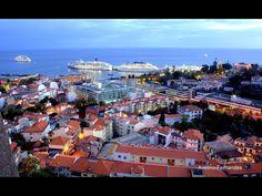 Linda panorâmica cidade e sua baia  Funchal
