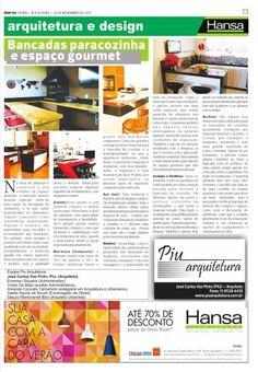 66° Jornal Bom Dia  - Bancadas para cozinha e espaço gourmet  30-11-12