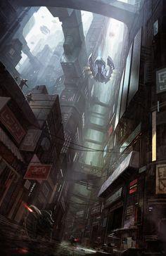 City On Edge by =Fleurdelyse