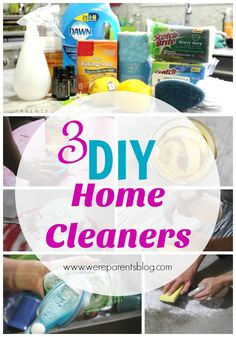 3 diy home cleaners - diy cleaners - natural cleaner recipes - cleaning recipes - how to clean naturally