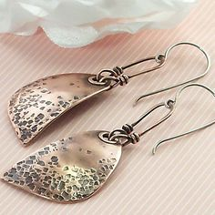 Wire+Wrapped+Jewelry+Earrings+Handmade+Copper+by+IntuitiveGlass