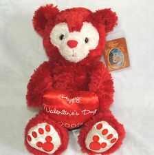 "Disney 17"" Red Hidden Mickey Mouse Bear Valentine Day 2003 Plush Pre Duffy TAGS"